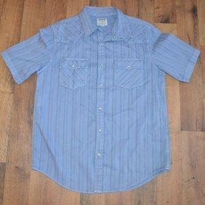 Levis Mens S Short Sleeve Casual Shirt Blue Cotton